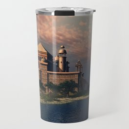 Beautiful Fantasy Town Travel Mug