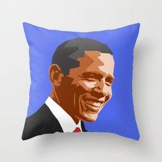 Barack 2 Throw Pillow