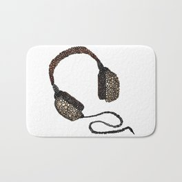 Put Your (Vintage) Headphones On - Abstract Bath Mat