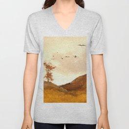 Landscape with Crows Unisex V-Neck