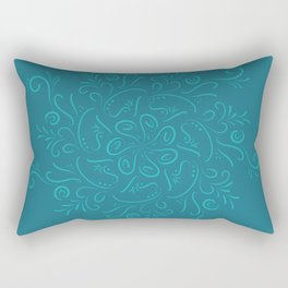 Teal mandala Rectangular Pillow