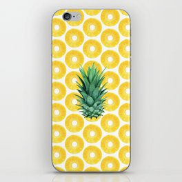 Pineapple Pattern iPhone Skin