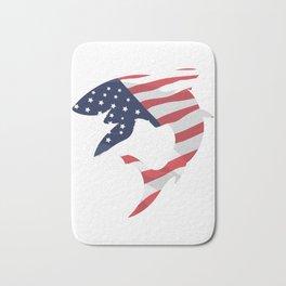 American Flag Shark Bath Mat