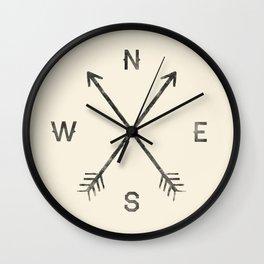 Compass (Natural) Wall Clock