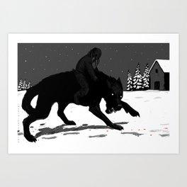Svart-Alf Art Print