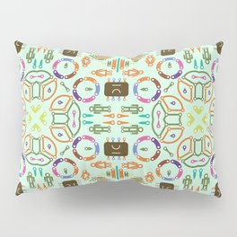 "Seamless pattern in the style of ""printed circuit board"" Pillow Sham"