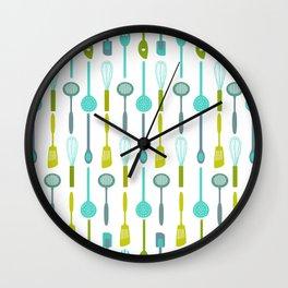AFE Kitchen Utensils Pattern Wall Clock