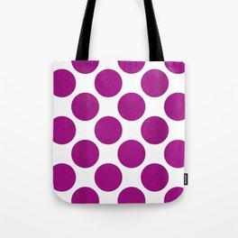 Fuchsia Polka Dot Tote Bag