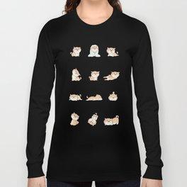 SHIBA INU silly pups Long Sleeve T-shirt