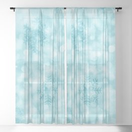 Winter Vibes Sheer Curtain