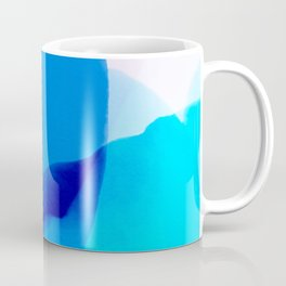 blue winter ice now abstract watercolor Coffee Mug