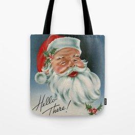 Hello there vintage santa portrait Tote Bag