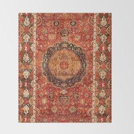 Seley 16th Century Antique Persian Carpet Print Throw Blanket