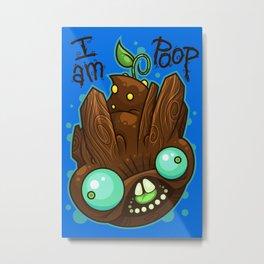 I Am Poop Metal Print