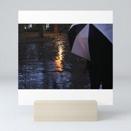 Rainy Days with an Umbrella Mini Art Print