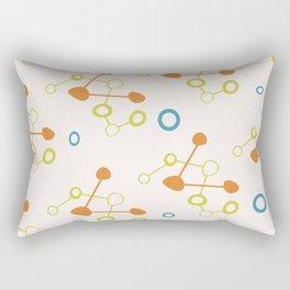 Mid Century Modern Atomic Age Pattern Rectangular Pillow