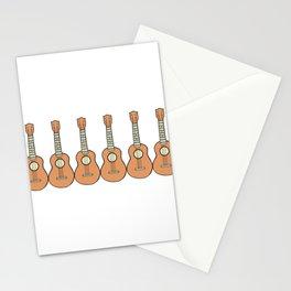 Row of Ukes Stationery Cards