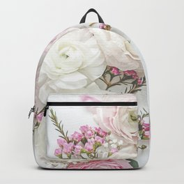 SPRING FLOWERS WHITE & PINK Backpack