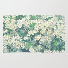 White flower dream Rug