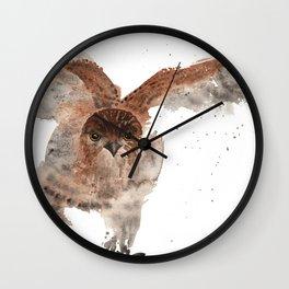 Hawk on the Hunt Wall Clock