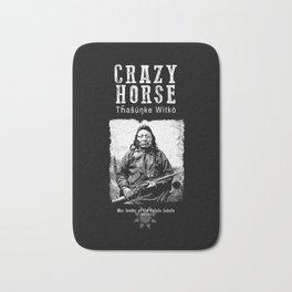 Crazy Horse-Lakota Chief-Warrior-Sioux-Native American-Indian-History Bath Mat
