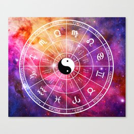 We are one with the universe Canvas Print