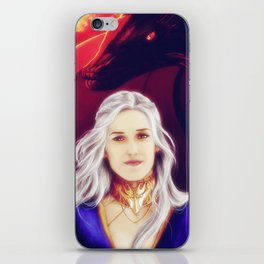 Fire and Blood (Silver Hair) iPhone Skin