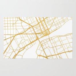 DETROIT MICHIGAN CITY STREET MAP ART Rug