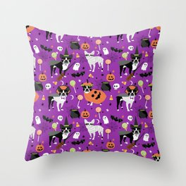 Boston Terrier Halloween - dog, dogs, dog breed, dog costume, cosplay cute dog Throw Pillow