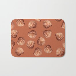 Orange big Clam pattern Illustration design Bath Mat