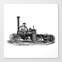 Steam car Canvas Print