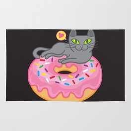 My cat loves donuts 2 Rug
