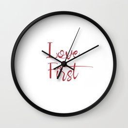 Love First Valentine's Day Gift Wall Clock