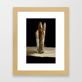 Less Friends More Bread Framed Art Print