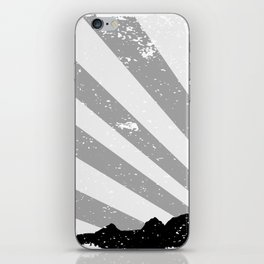 Town Silhouette Grey Grunge iPhone Skin