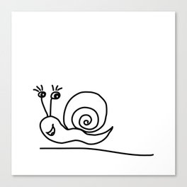 Funny Little Snail Canvas Print