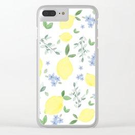 Fresh Lemon Serenade Clear iPhone Case