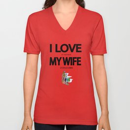 I Love it when my wife lets me go climbing Unisex V-Neck