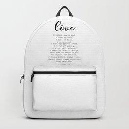 Love Never Fails #minimalism Backpack