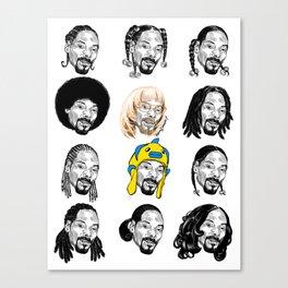 Snoop Dogg Hair Canvas Print