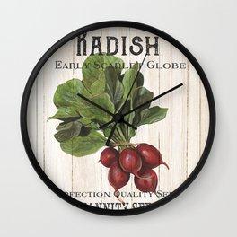 Organic Seeds 3 Wall Clock