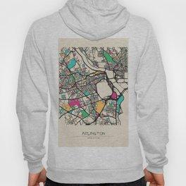 Colorful City Maps: Arlington County, Virginia Hoody