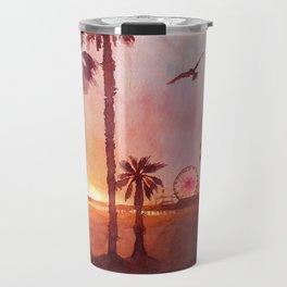 Sunset in Santa Monica Travel Mug