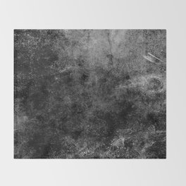 Grunge Gray Throw Blanket