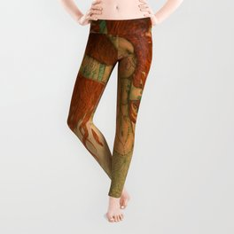 Green Moss Kingdom Leggings