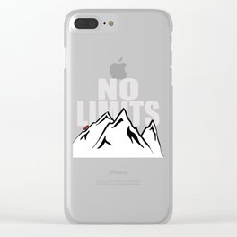 Jeep climb - No limits (Red) Clear iPhone Case