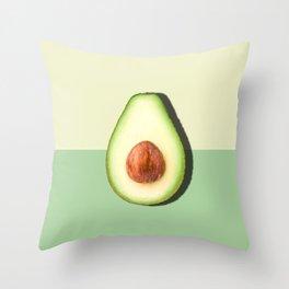 Avocado Half Slice, Tropical Fruit Throw Pillow