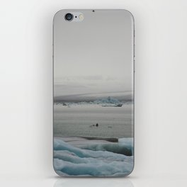 Moody icebergs iPhone Skin