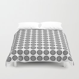 Background abstract, black-and-white pattern, vector, circle texture design. Duvet Cover