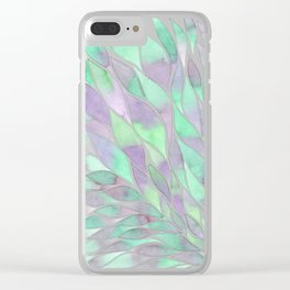 Feathers painting watercolors Clear iPhone Case